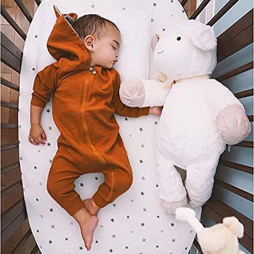 4SDOT Infant Baby Boy Girl Cartoon Clothes Dinosaur Shark Hoodie Romper Jumpsuit Onesie Outfit Set /…