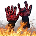 Housework Specialist Heat Resistant Gloves-For Extreme Temperatures -109ºF to 932ºF-Great For Grilling, Cooking, Baking, BBQ, Fireplace and Freezer-Men and Women Fitted-Extra Length