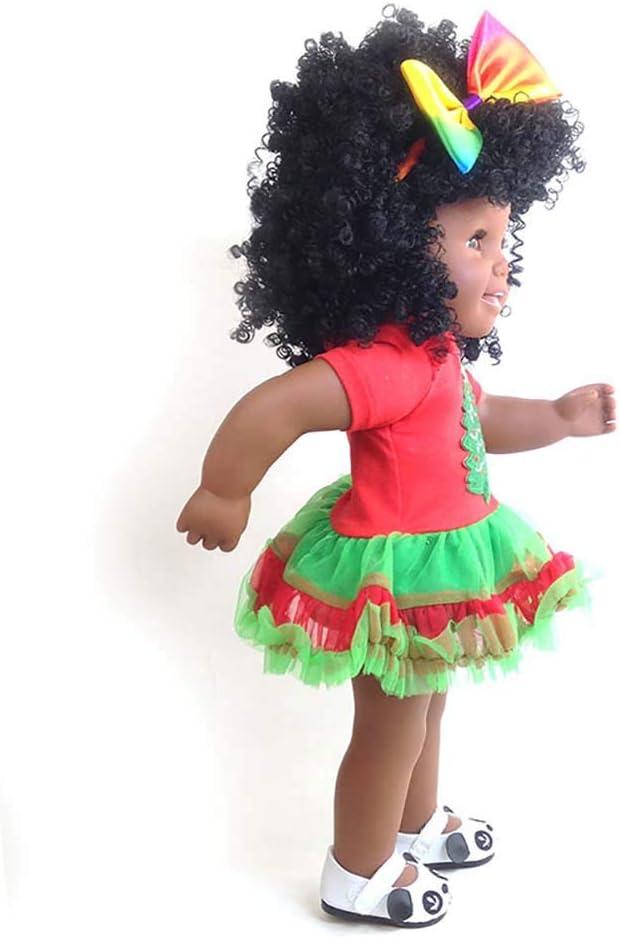 Yan Jianliang Muñeca Reborn bebé 18 Pulgadas 45 cm Africano muñeca ...