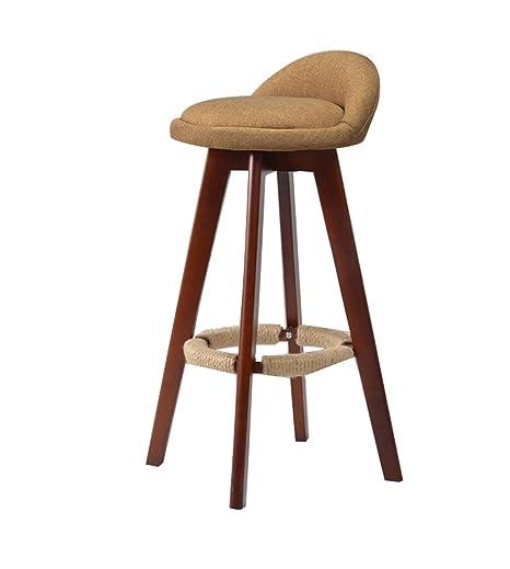 Portátil Taburete de bar retro, silla de bar de madera ...
