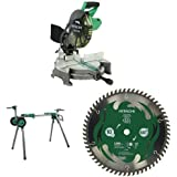 "Hitachi C10FCE2 10"" Miter Saw with Stand and Blade"