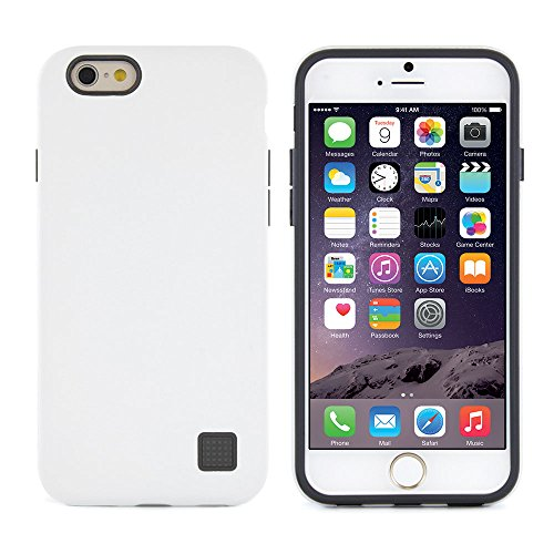 "PROPORTA® Dual Shield iPhone 6 / 6S (4.7"" Zoll) Hülle, Militärstandard Geprüft Rugged  Case/Cover, Antibakterielles SteriTouch Material, Weiß/Grau"