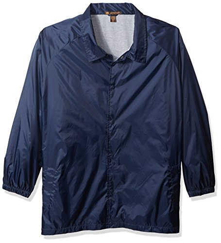 Harriton Adult Nylon Staff Jacket L Navy