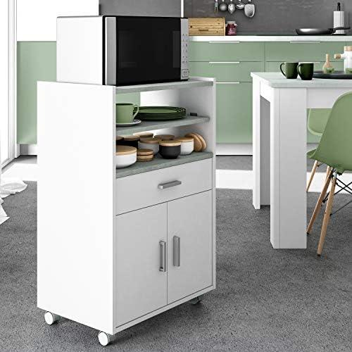 Habitdesign 0L9910O - Mueble auxiliar para microondas, mesa cocina ...