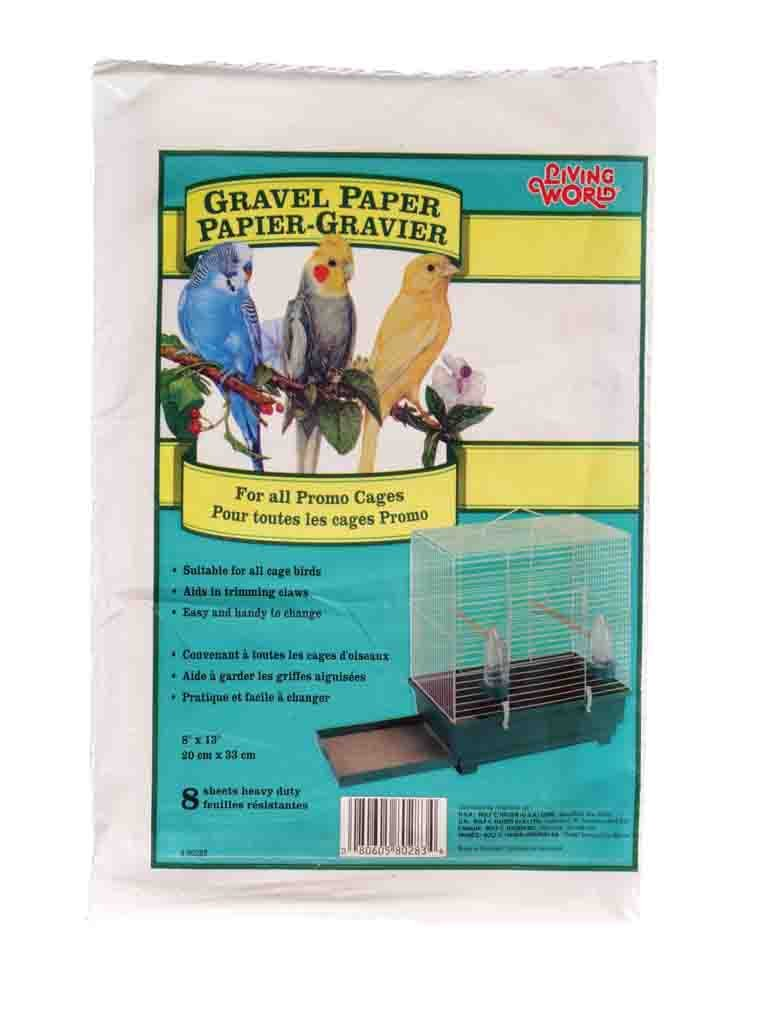 Living World Gravel Paper, 8-Inches x 13-Inches, 8-Pack 80283