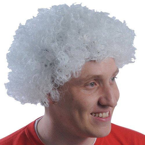 (DollarItemDirect White Team Spirit Afro Wig , Sold by 20 Pieces)