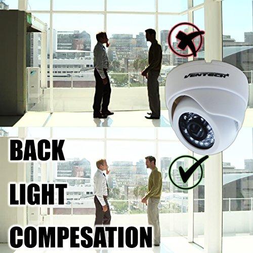 cctv camera by ventech security surveillance ir camera 1000TVL 24 IR LED Day and Infrared IR night Vision cmos 960h 12v Dome Camera Home ir Security cam Wide Angel 3.6mm audio
