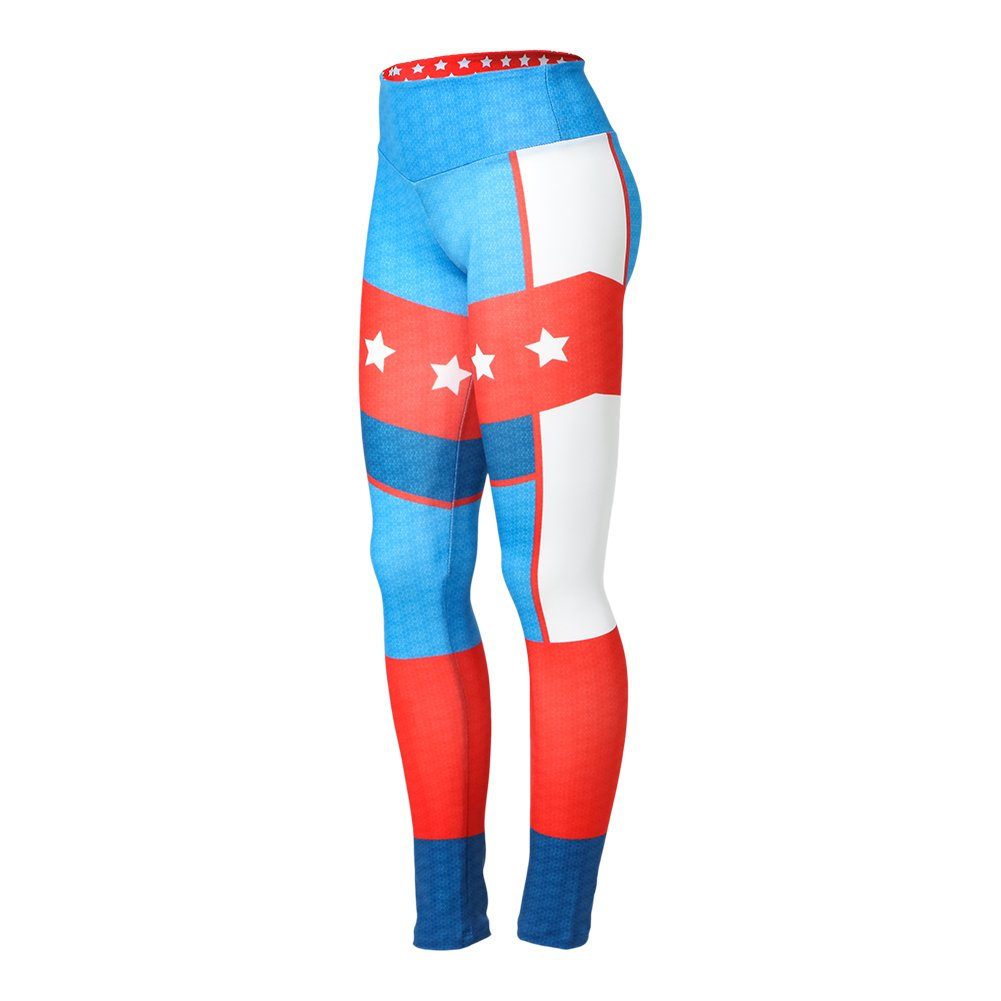 Alexandra Collection Youth High Waisted Superhero Patriotic Athletic Workout Leggings