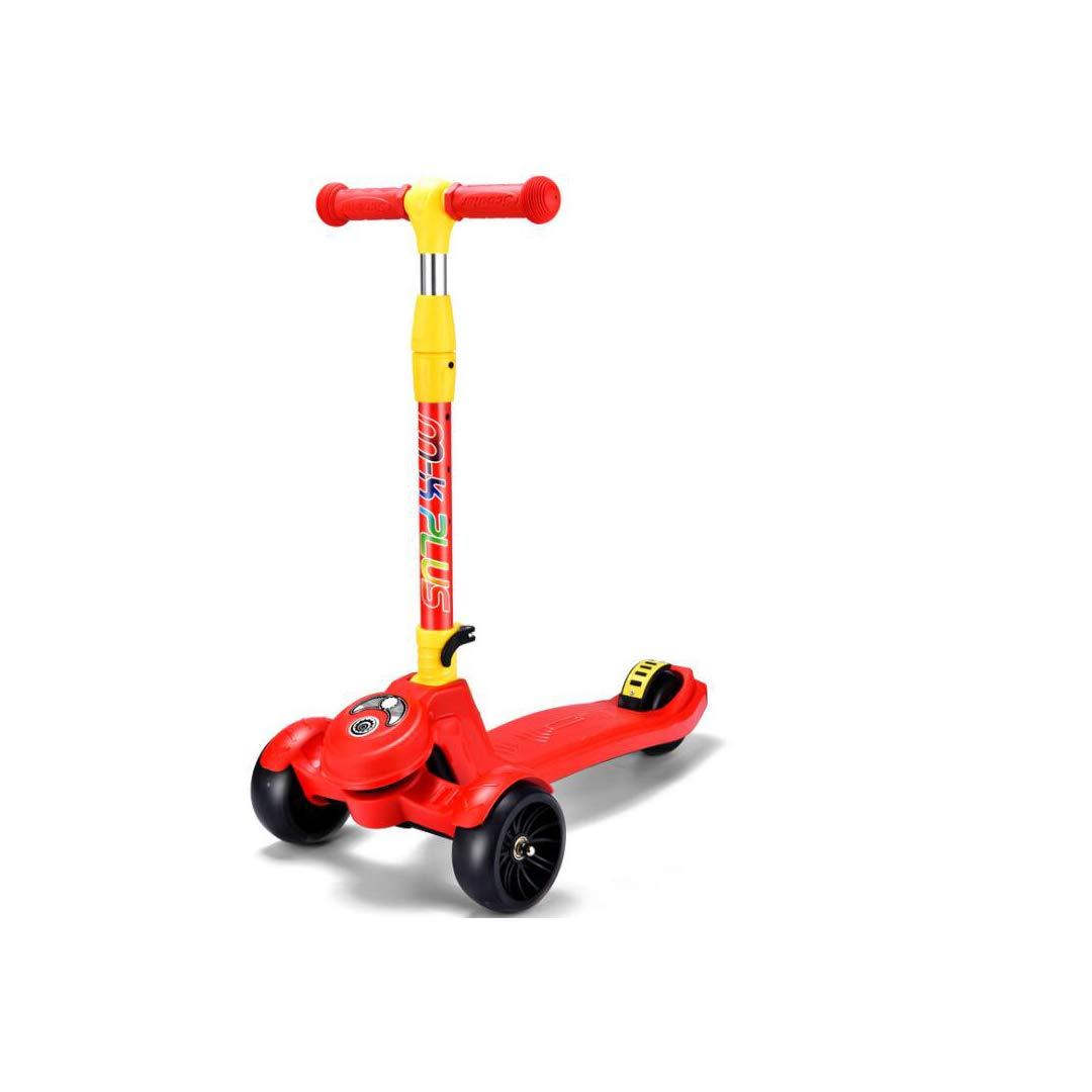 お歳暮 TLMYDD B07NMQQKBB 子供のスクーター2-3-6-14歳フラッシュペダル折りたたみ三輪スライド滑りやすいスクーター32×60×83センチ 子供スクーター Red (色 : 青) B07NMQQKBB Red 青) Red, 西白河郡:4d0b59b9 --- a0267596.xsph.ru
