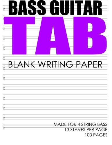 Bass Guitar Tab Book - BASS Guitar Tab: Made For 4 String Bass
