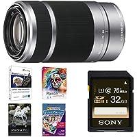 Sony E 55-210mm F4.5-6.3 Lens for Sony E-Mount Cameras (Silver) Premium Bundle