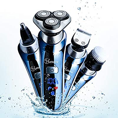 HATTEKER Cordless Mens Electric Razor Waterproof 4 in 1 Rotary Shavers for  Men Professional Beard Trimmer USB Rechargeable Nose Hair Trimmer Facial  Cleaning Brush-Men's Gift Box: Amazon.sg: Health & Personal Care