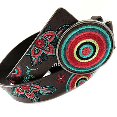 Designer belt 'Desigual' multicolored brown.