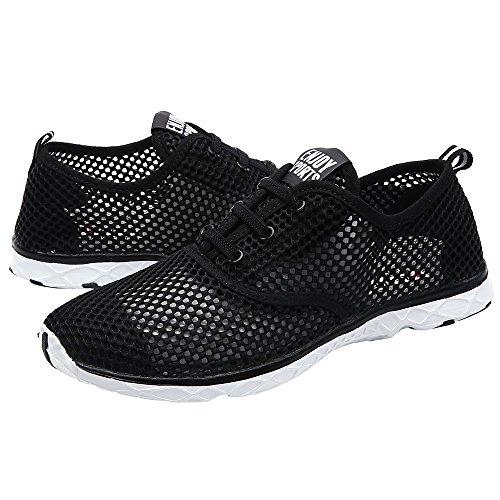ALEADER Frauen schnell trocknende Aqua Water Shoes Schwarz