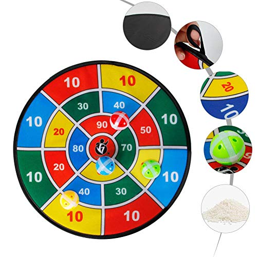 (nicemeet Safety Dart Board with 8 Sticky Ball for Children.Ball Sticky Dartboard Children Training Sticky Ball Toys)