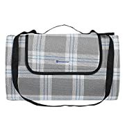 SONGMICS Picnic Blanket Waterproof Beach Camping Outdoor Blanket Mat 77  x 59  UGCM50GW