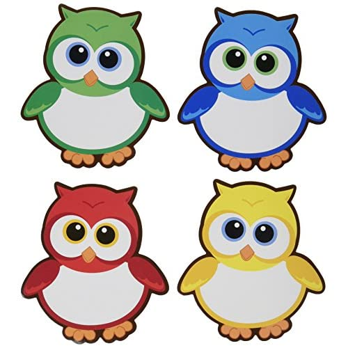 "1 Dozen HUGE 5"" X 5"" Owl Dry Erase Magnets - Note Pads hot sale"