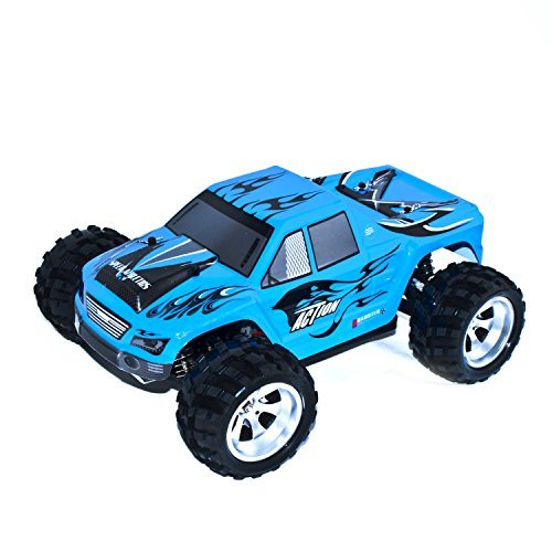 ALEKO 66A979 4WD Off Road Electric Power High Speed Monster Truck, Blue 1/18 Scale - Gas Power Rc Truck