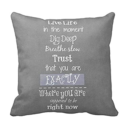 Buy Inspirational Quote Gray Throw Pillows Decorative Inspirational Simple Best Place To Buy Decorative Pillows
