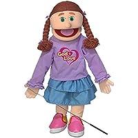 25 God Is Love Peach Girl Full Body Christian Ministry Puppet