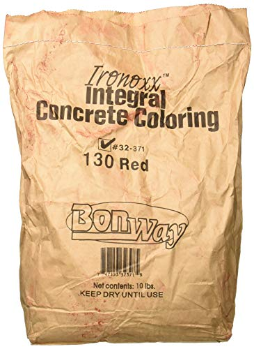 BonWay 32-371 Ironoxx Integral Concrete Pigment, 130 Red Ironoxx, 10-Pound Bag