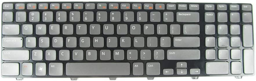 New Keyboard Compatible with Dell XPS 17 L702X 7720 N7110 Vostro V3750 3750 with Backlit US Grey