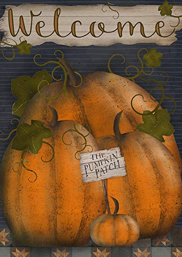 Toland Home Garden 1012213 Pumpkin Patch Welcome 28 x 40 inch Decorative, Fall Autumn, House Flag by Toland Home Garden