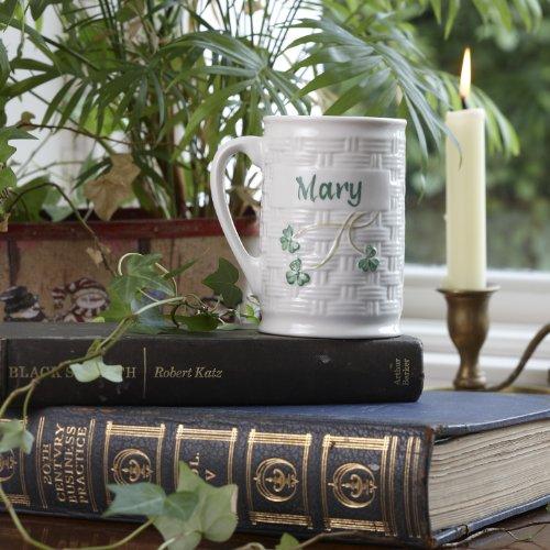 Belleek Irish Pottery Personalized Mug