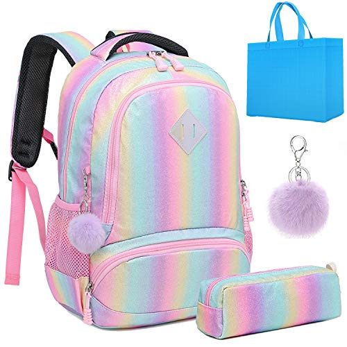 Girls Unicorn Backpack Set