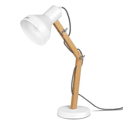Tomons Lámpara de Escritorio de Madera, Lámpara de Mesa Diseñada, Lámparas de Lectura, Lámpara de Estudio, Lámpara de Trabajo, Lámpara de Oficina, ...