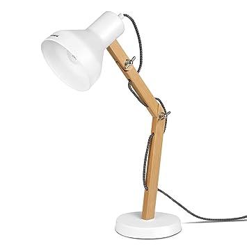 Lampe BoisAmpoule Pour De LectureDesign DécorationLampes Tomons Table Et Bureau LedBlanche ChevetSalonEn xoerdCWEQB