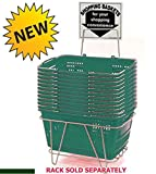 Prestige Line Green Jumbo Hand Held Shopping Basket Set of 12