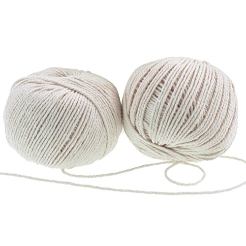 Gift Wrap 2 Rolls - Butchers Twine String, Jmkcoz 2 Rolls Natural Cotton Cooking Twine Food Safe Kitchen Twine Packing Twine 300 Feet Per Roll, Perfect Wrap for Gift Arts Crafts Meat Poultry and Making Sausage