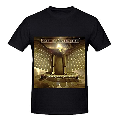 Earth, Wind & Fire Now Then Forever Funk Men Crew Neck Custom T Shirts Black