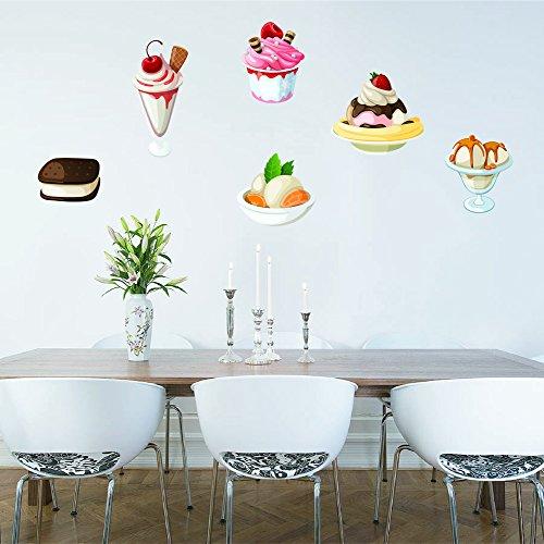 StickersForLife cik1053 Full Color Wall Decal Sweet ice Cream Desserts Food Snack Restaurant