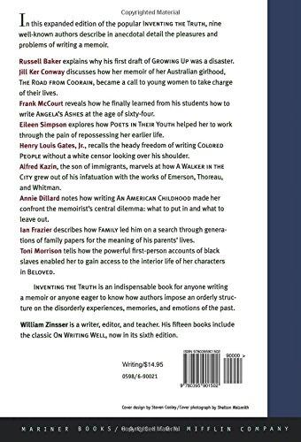 Inventing the Truth: The Art and Craft of Memoir: William Zinsser ...