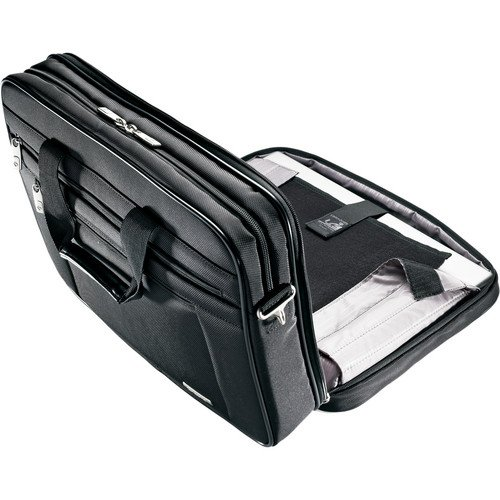 Samsonite Classic Business Perfect Fit 15.6'' Two Gusset Laptop Bag in Black by Samsonite (Image #3)