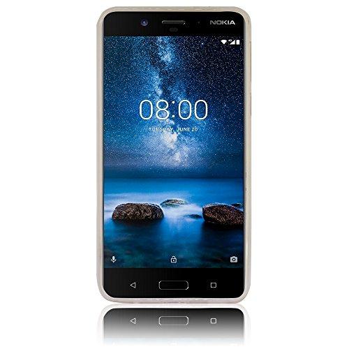 Nokia 8 casete Funda protectora de silicona Funda protectora suave Funda protectora contra el parachoques Funda protectora para teléfono móvil Funda protectora para teléfono móvil Funda para teléfono  Smile Sonreír