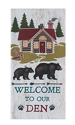 4 Piece Welcome to Our Den Kitchen Linen Set - 2 Terry Towels, Oven Mitt, Potholder by Kay Dee (Image #1)