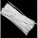 SumDirect Plastic Twist Ties,for Party, Candy, Bakery, Cable, Wire,Cake Pops,3.94x0.08inches,White,1000pcs
