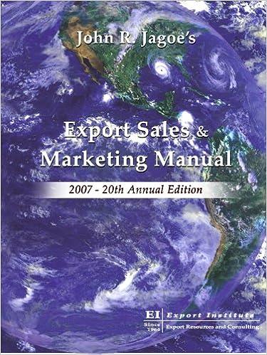 Export Sales & Marketing Manual 2007 (Export Sales and Marketing Manual)