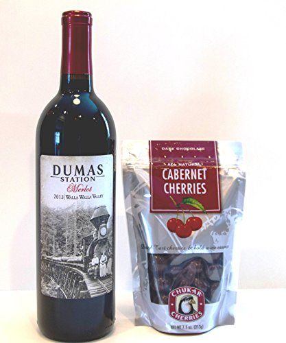 Dumas Station Walla Walla Valley Merlot + Chukar Cherries Gift Set, 1 x 750 mL