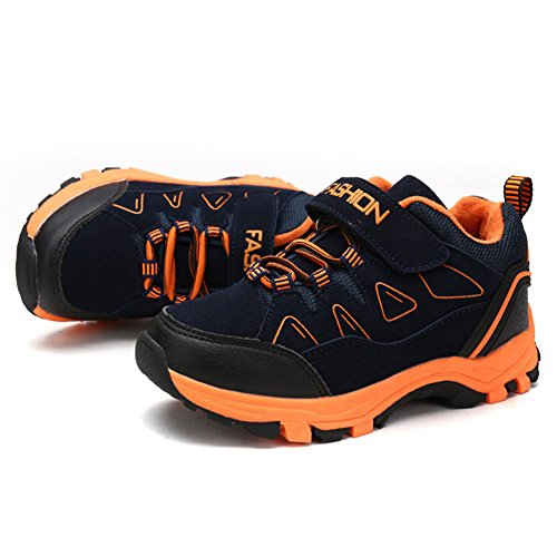 mit Mädchen Trekking Wanderhalbschuhe Jungen Sneaker Marineblau Wander Klettverschluss Kinder happygo Outdoor Turnschuhe Laufschuhe x6FzTnf
