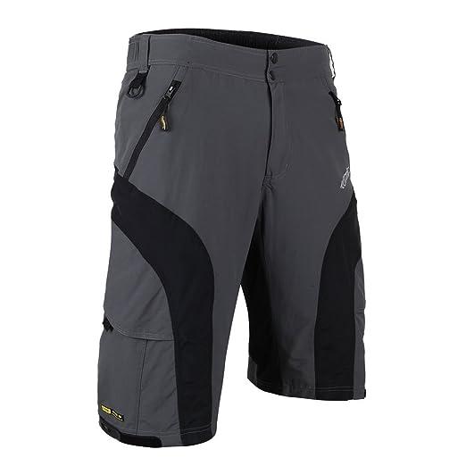 12 opinioni per Santic Pantaloncini larghi da uomo per bici/MTB con rivestimento imbottito