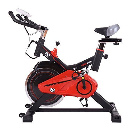 Gymax Indoor Cycling Exercise Stationary Bike w/ Flywheel, Adjustable Cardio Cycle Fitness Stationary Bicycle
