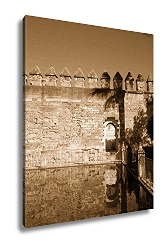 Ashley Canvas Fountains Of Alcazar In Cordoba Spain, Wall Art Home Decor, Ready to Hang, Sepia, 20x16, AG6376855 by Ashley Canvas
