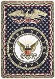 united states navy blanket - Simply Home United States Navy Military 3 Layer Afghan Throw Blanket 50