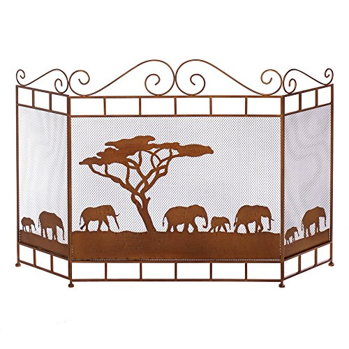VERDUGO GIFT CO Wild Savannah Fireplace Screen ()