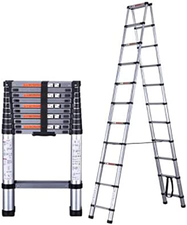 XIONGHAIZI Escalera, Escalera de la extensión de la aleación de Aluminio, Escalera del hogar, Escalera Plegable de múltiples Funciones de la ingeniería portátil, Escalera de elevación, Escalera Plana: Amazon.es: Hogar