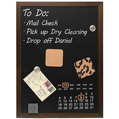 Mounted Magnetic Blackboard Message Calendar